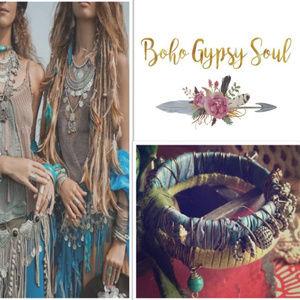Accessories - Handmade Twisted Silver Boho  Bangle Bracelets (3)